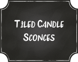 Tile Candle Sconces