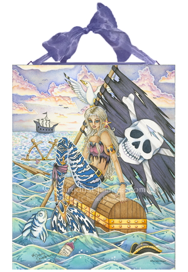 A Pirates Life - Mermaid Ceramic Tile Plaque