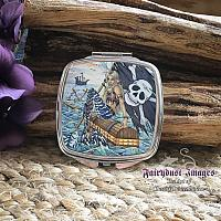 A Pirates Life - Nautical Mermaid Mirrored Compact