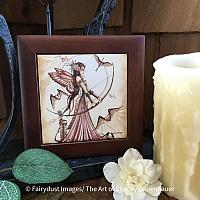 Aiming for Love II - Wooden Frame Art Tile