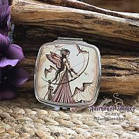 Aiming for Love II - Valentines Day Fairy Mirrored Compact