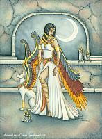 Ancient Leigh - Egyptian Angel Art Print