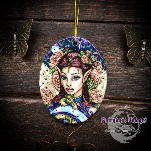 Angel Face - Ceramic Ornament