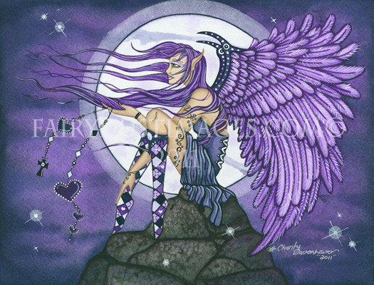 Angelica - Purple Angel Art Print