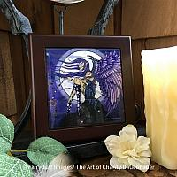 Angelica - Wooden Frame Tile Art