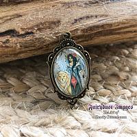 Aspen - Lion and Fairy Art Pendant