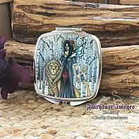 Aspen - Fairy and Lion - Mirror Compact