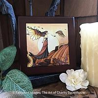 Autumn Breeze - Wooden Frame Art Tile