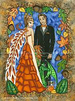 An Autumn Bride - Fairy Wedding Art Print