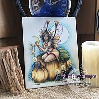 Autumn's Coming - Fairy Ceramic Art Plaque
