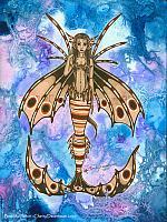 Beautiful Poison - Loin Fish Mermaid Art Print