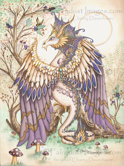 Beauty - Beautiful Dragon Art Print