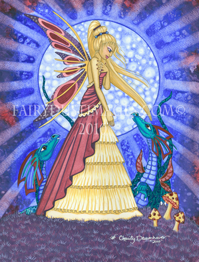 Blue Moon Fairy - Fantasy Art Print