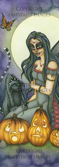 Fright Night - Halloween Fairy Bookmark