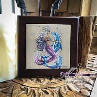 Bubbles - Wooden Frame Art Tile