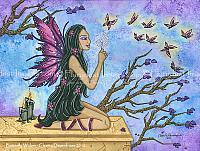 Butterfly Wishes - Dandelion Fairy Art Print