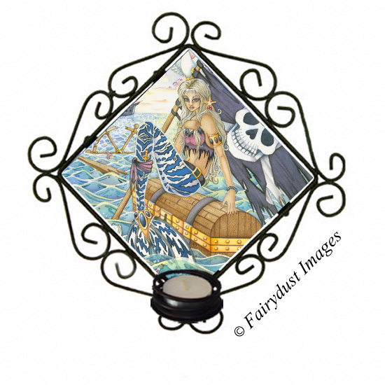 A Pirates Life - Mermaid Candle Sconce