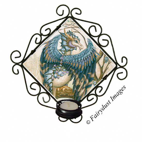 The Beast - Blue Dragon Candle Sconce