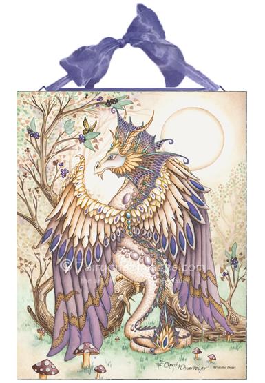 Beauty - Dragon Ceramic Tile Plaque