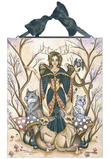Gather Around - Fantasy Art Ceramic Tile Plaque