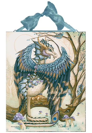 The Beast - Blue Dragon Ceramic Tile PLaque