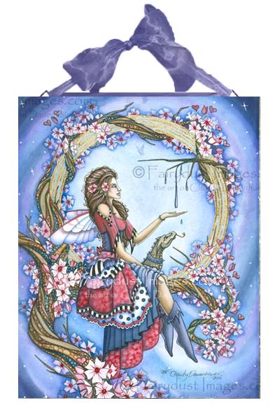 The Ring - Lolita Fairy Ceramic Tile Plaque