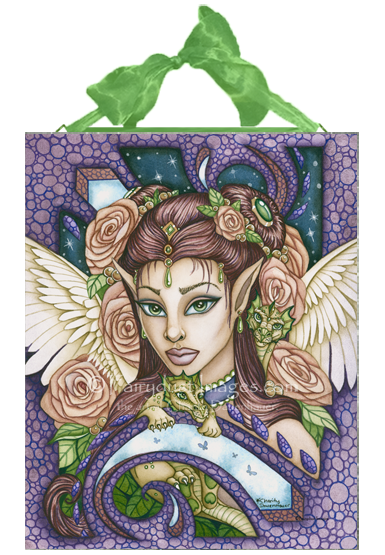 Angel Face - Ceramic Tile Plaque