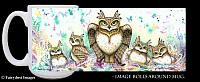 Family Hoot - Owl Mom and Babies Coffee Mug
