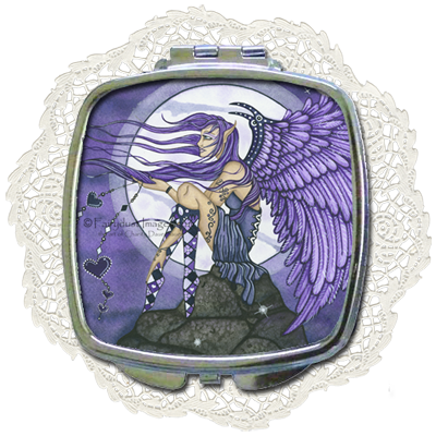 Angelica - Angel Compact Mirror