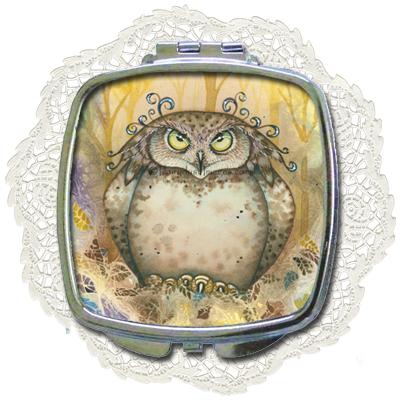 Hootie - Owl Compact Mirror