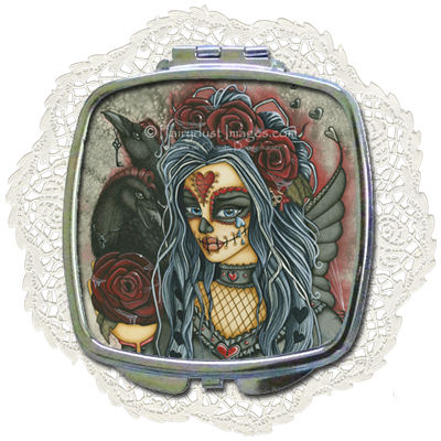 Wild Heart - Day of the Dead Compact Mirror