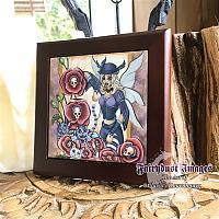 Day of the Poppy - Wooden Frame Art Tile