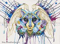 Daisy - Raccoon, Cat and Fox, Art Print