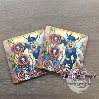 Day of the Poppy - Gothic Fairy Coaster