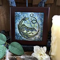 Star Dancer - Wooden Framed Art Tile