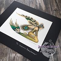 Feathered Fin - Hand Embellished Limited Edition Art Print