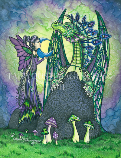 Enchantment - Fairy and Dragon Art Print