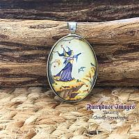 Falcon Queen - Fairy Cameo Pendant Necklace
