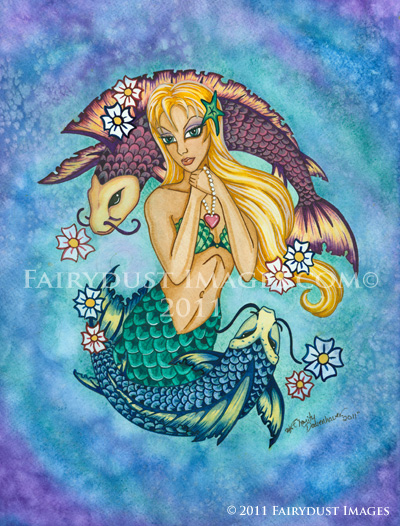 Fanta Sea - Koi Mermaid Art Print