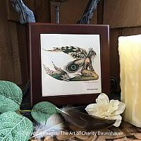 The Feathered Fin - Wooden Frame Art Tile
