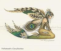 Feathered Fin - Mermaid Art Print