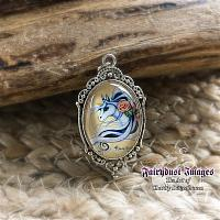 Flowered Unicorn - Pendant Necklace