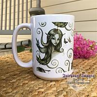 Fluttering Moments - Fairy Face Coffee Mug