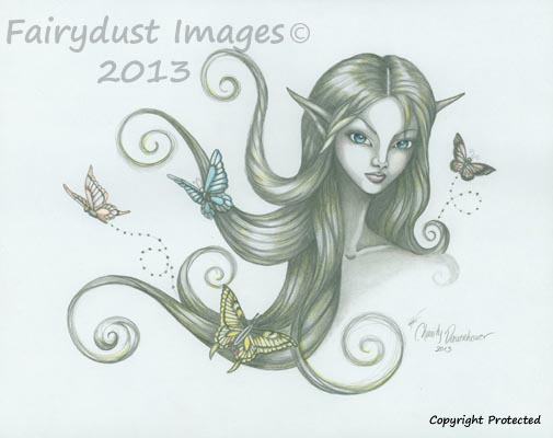 Fluttering Moments - Fairy Elf Art Print