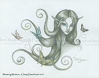 Fluttering Moments - Fairy Elf Art Print