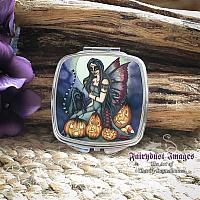 Fright Night - Halloween - Sugar Skull - Mirror Compact