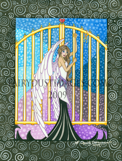 Heaven's Gates - Angel Art Print