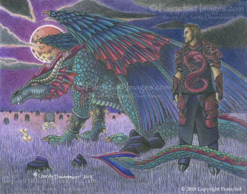 His Return - Dragon Warrior Art Print