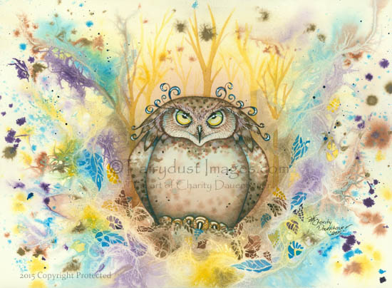 Hootie - Owl With A Attitude Art Print