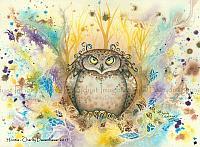 Hootie - Owl With A Attitude Art Print
